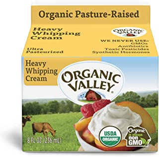 Organic Valley, Organic Heavy Whipping Cream, Ultra Pasteurized, 8 Ounces
