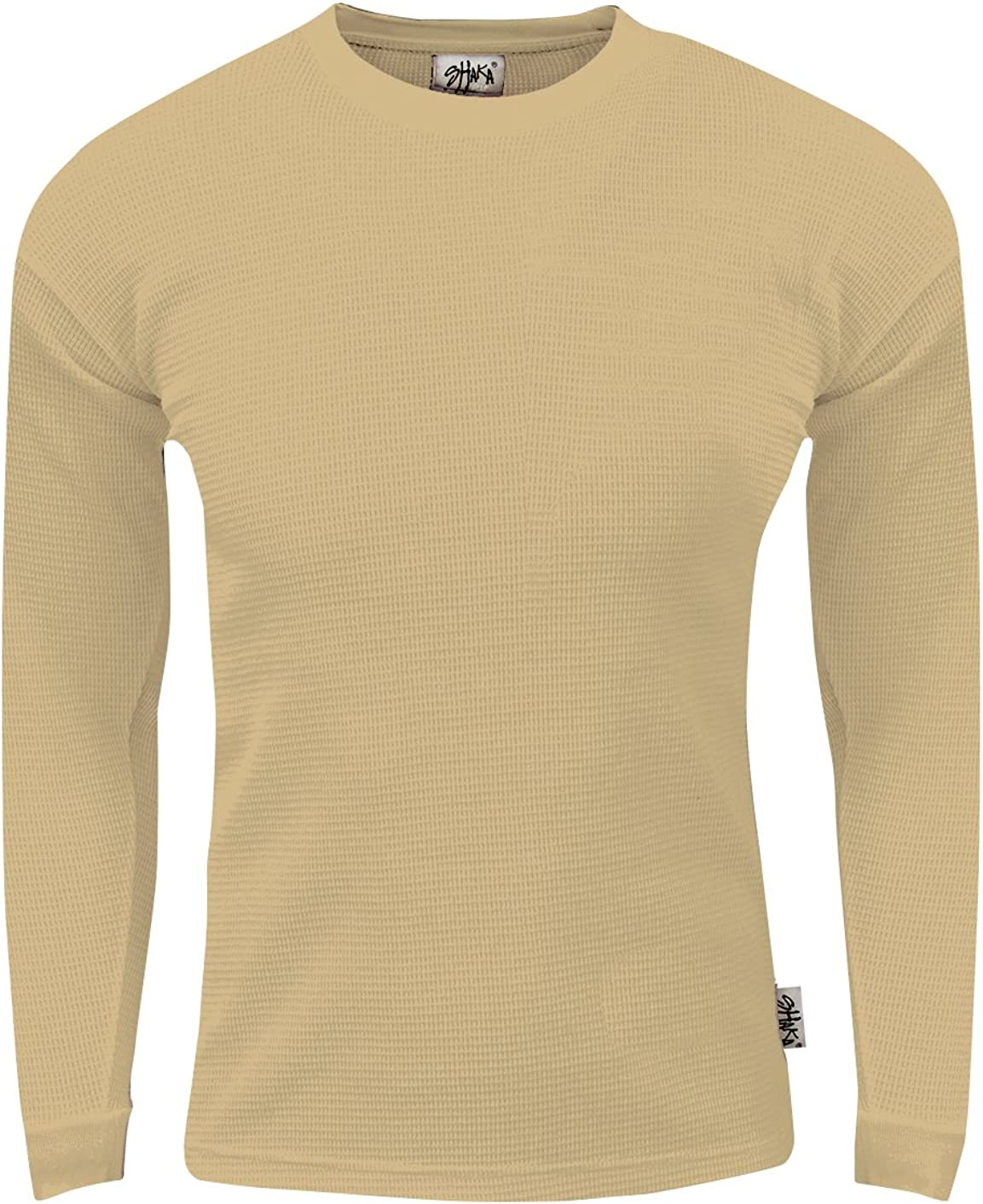 Heavyweight Waffle Thermal T Shirt Long Sleeve Crewneck Knitted Top Size XS-5XL Fitscloth Men/'s Knit Sweater Pullover