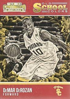 2015-16 Panini Contenders Draft Picks Basketball Old School Colors #7 DeMar DeRozan USC