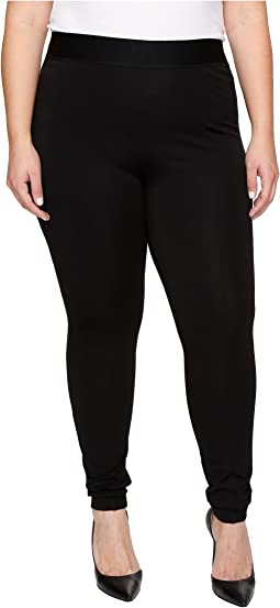 HUE - Plus Size High Waist Blackout Ponte Leggings