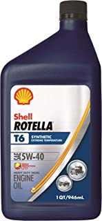 Best Shell Rotella 550049479-6PK T6 Full Synthetic 5W-40 Diesel Engine Oil (CK-4), 1 Quart, 6 Pack Review
