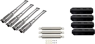 DcYourHome Gas Grill Parts Kit incl.(4pack) Burners & (3pack) Carryover Tubes,(4pack) Heat Plates Replacement Select Models 463420509,463420507, 463460710 Charbroil
