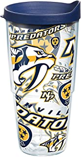 Tervis NHL Nashville Predators All Over Tumbler with Wrap and Navy Lid 24oz, Clear