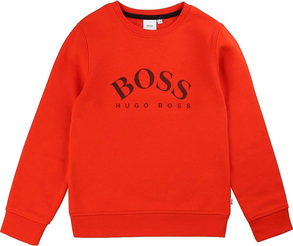 Boss, felpa per bambino - ragazzo,dai 4 ai 16 anni,87% cotone, 13% poliestere J25G05