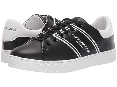 Emporio Armani Classic Sport Sneaker (Black/White) Women