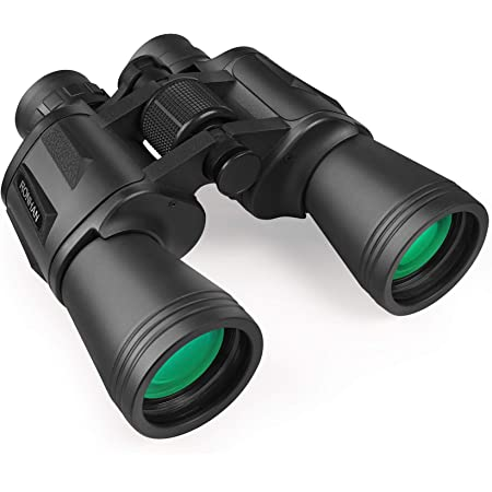 20x50 High Power Military Binoculars, Compact HD Professional/Daily Waterproof Binoculars Telescope for Adults Bird Watching Travel Hunting Football-BAK4 Prism FMC Lens-with Case and Strap (20X50)