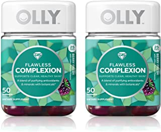 Olly Flawless Complexion Gummy Supplement, with antioxidants; Berry Fresh; 50 count, 25 day supply (packaging may vary), 2 Pack