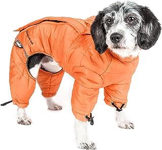 DOGHELIOS 'Thunder-Crackle' Full-Body Bodied Waded-Plush Adjustable and 3M Reflective Pet Dog Jacket Coat w/Blackshark Tec...