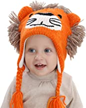 SUMOLUX Boys Winter Earflap Beanie Hat Knitted Animal face Lion Hats for 1-6T