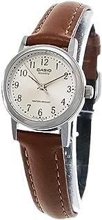 Women's Leather Strap Watch #LTP-1095E-7B