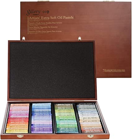 Mungyo Gallery Soft Oil Pastels Wood Box Set of 72 - Assorted Colors