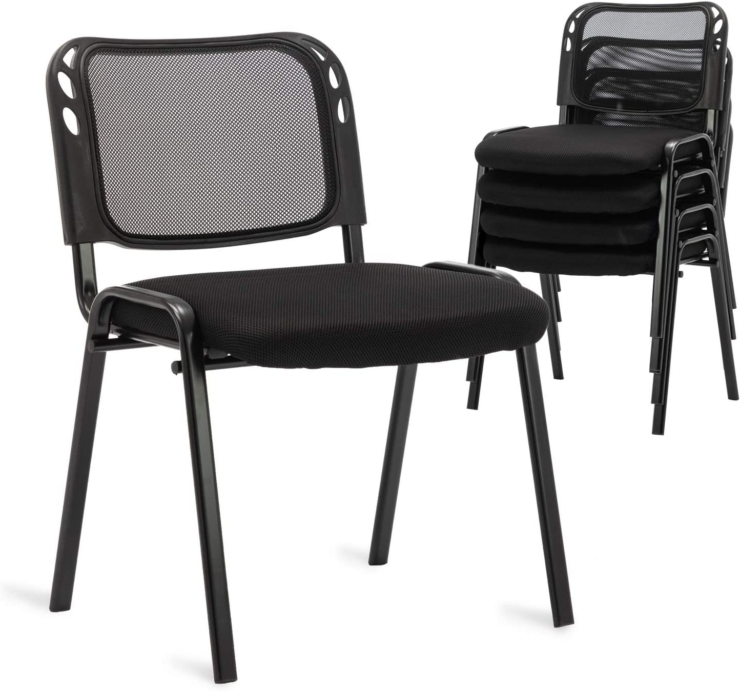 Set of 5 Price reduction Stackable Conference Chairs Back C Stacking Nashville-Davidson Mall Guest Mesh