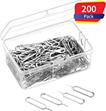 300 Pack Sim Card Tray Eject Pin Ejector Removal Tool for iPhone X, 8 Plus, 8, 7 Plus, All Other iPhone Models, iPads, iPods, Samsung Galaxy Note/S/Edge/J Series, HTC Phone Models (300 Pack)