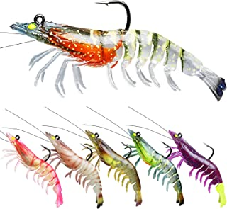 TRUSCEND Pre-Rigged Fishing Lures, Shrimp Lure with VMC...