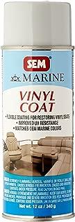 SEM M25193 Marine Light Grey Vinyl Coat Vinyl and Plastic Repair Coating for Marine Vinyl