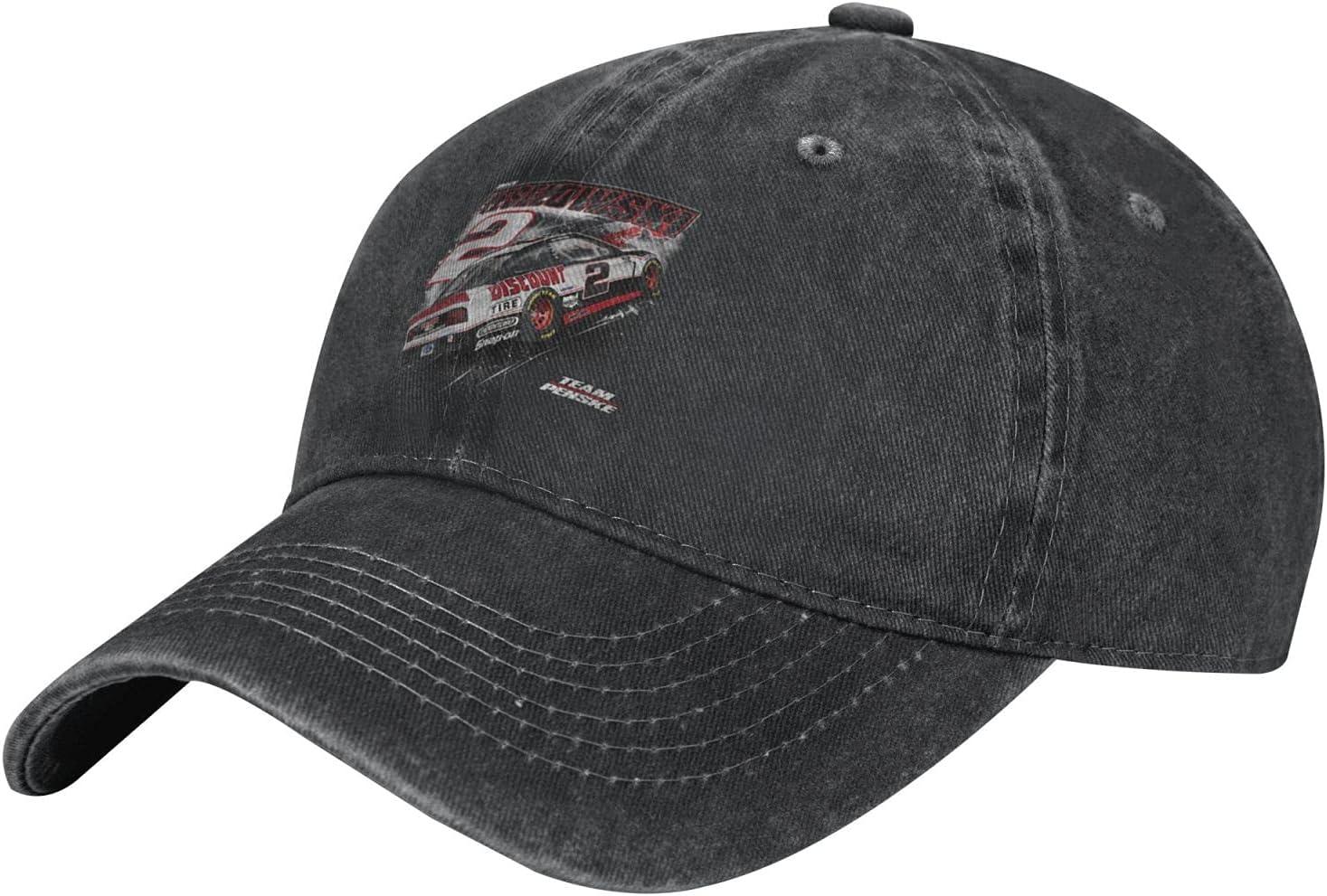 GAiNViEW Brad Keselowski 2021 Denim Cap Adjustable Plain Baseball Cowboy Hat Cotton Sunbonnet Plain Hat Black