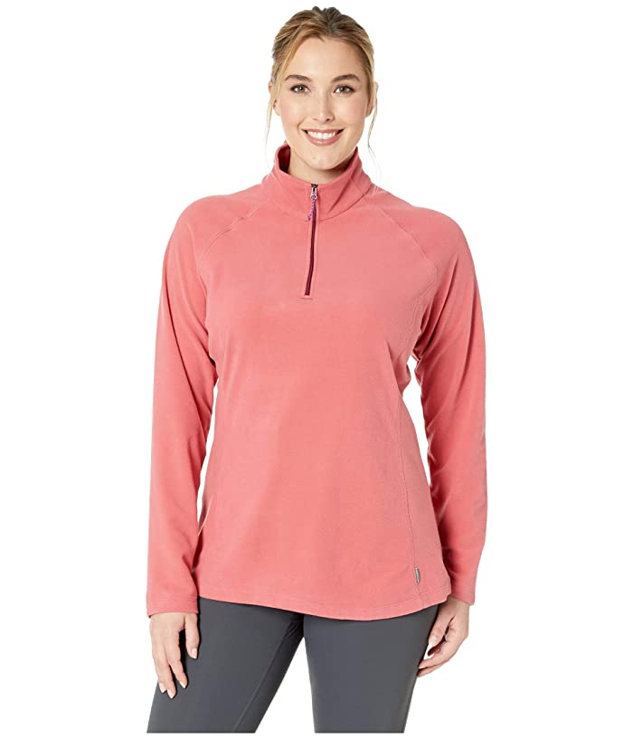 White Sierra Plus Size Alpha Beta 1/4 Zip (Holly Berry) Women