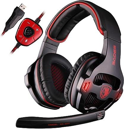 SADES SA903 Gaming Headset - Cuffie da Pro Gaming USB con Suono Surround 7.1, Microfono, Deep Bass, Controllo del Volume (Nera) - Trova i prezzi più bassi