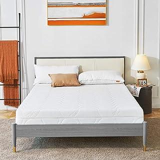 Sweetnight Colchón ortopédico de espuma fría, altura de 18 cm, grado de dureza H3-H4, colchón de 120 x 200 cm, color blanco