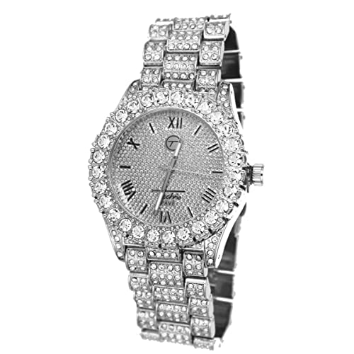 Totally Iced Out Pave Hip Hop Mens Bling Bling Watch