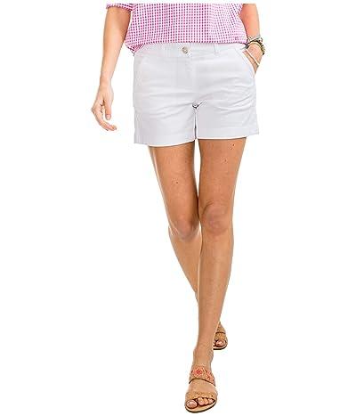 Southern Tide 5 Caroline Shorts (Classic White) Women