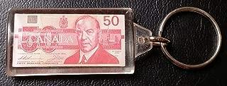 CANADIAN $50 FIFTY DOLLAR BILL KEYCHAIN