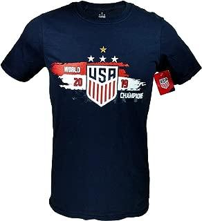 Icon Sports Group U.S.Soccer USWNT Men's Soccer Cotton T-Shirt (Navy)