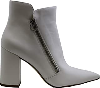 NINE WEST Womens Russity Pointed Toe Ankle Fashion Boots, White 1, Size 8.5