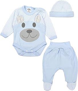 TupTam Baby Kleidung Set Body Strampelhose Mütze Bekleidungsset Jungen Mädchen