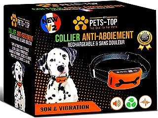 Collier Anti Aboiement Chien Education Mode Vibration Bip Automatique Étanche Sangle Ajustables Détection Réglable Petit  ...