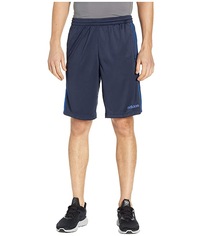 adidas D2M 3-Stripe Shorts (Legend Ink/Collegiate Royal) Men