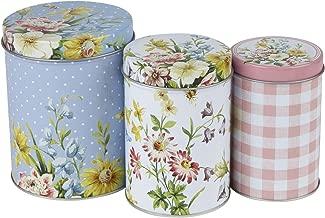 Creative Tops Katie Alice English Garden Shabby Chic Nested Kitchen Storage Tins, Set of 3