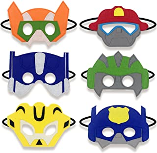 Boy Birthday Party Favors Felt Masks Boy Birthday Gifts for Rescue Bots Party Supplies (6 PCs)