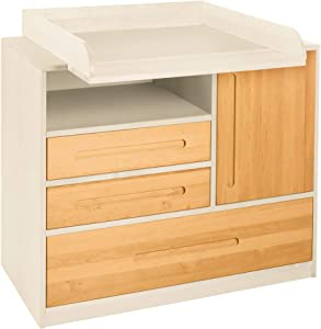BioKinder 23792 Savings set Lina chest drawers  changing table and changing device  white  Biological pinewood