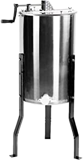 VIVO New Large Two 2 Frame Stainless Steel Manual Crank Bee Honey Extractor SS Honeycomb..