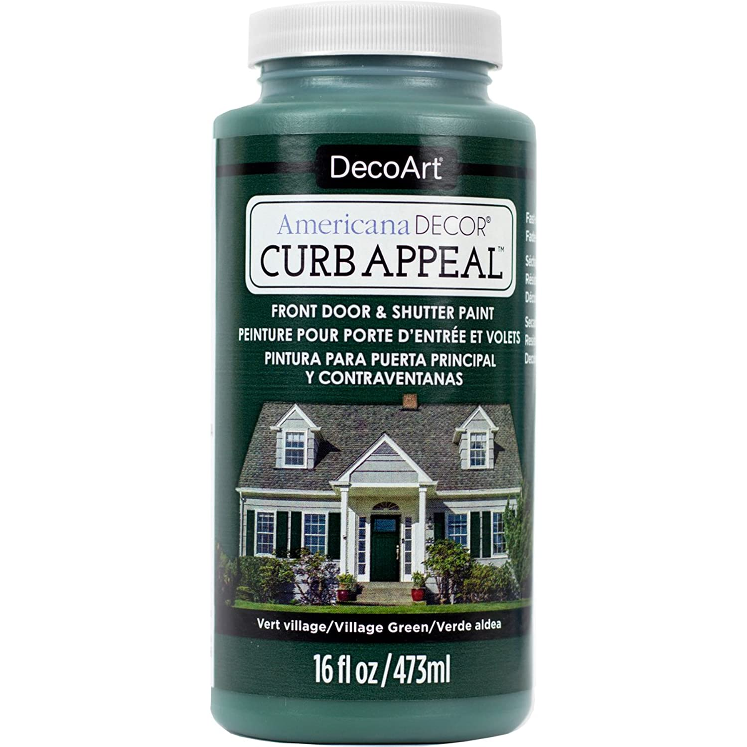 DecoArt Americana Decor Curb Appeal 16oz Villaggrn CurbAppeal16oz