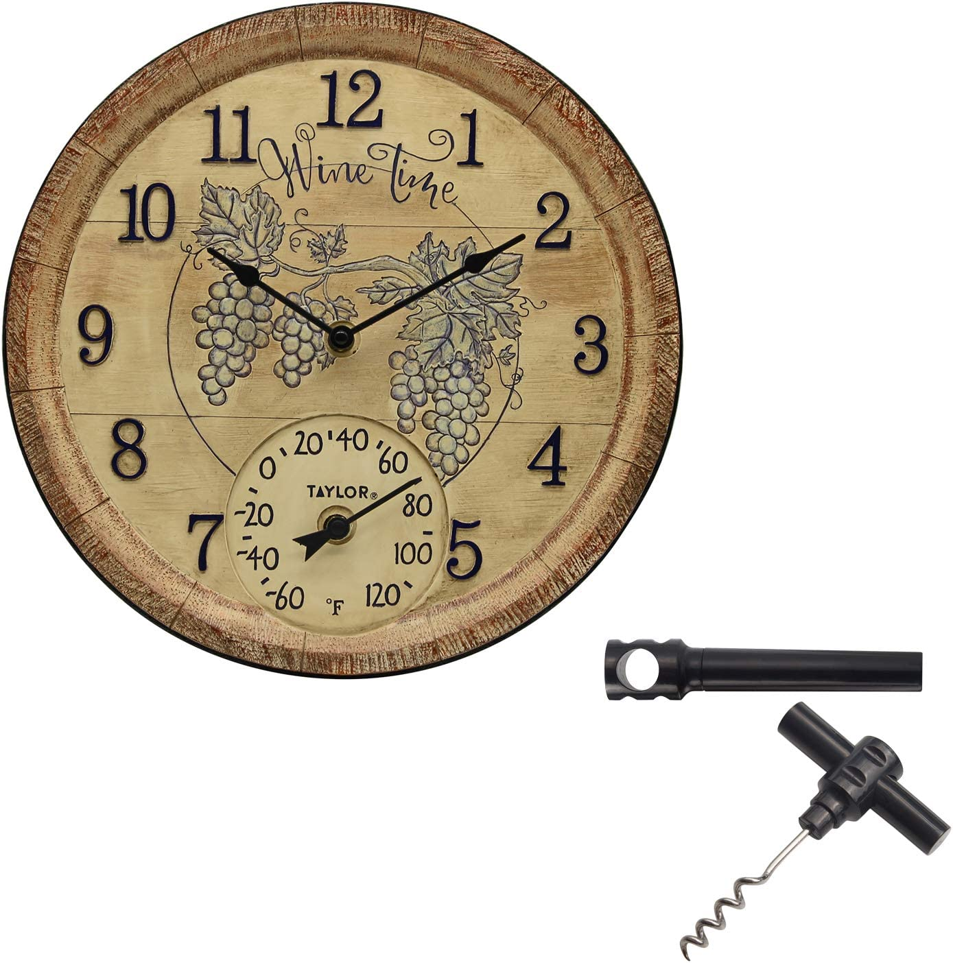 """Taylor Super beauty product restock quality top! Precision Products 14"""" Wine Resin Poly Thermom Time Max 89% OFF Clock"""