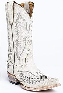 Dames western cowboylaarzen met brede kuit Puntige laarzen met klinknagels en dikke hak, maat 35-43