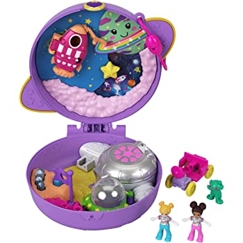 2968434-Polly Pocket Cofanetto Lama Music Party con Micro Bambole di Polly e Li