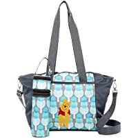Disney Baby 5-In-1 Diaper Bag w/Changing Pad, Bottle Holder