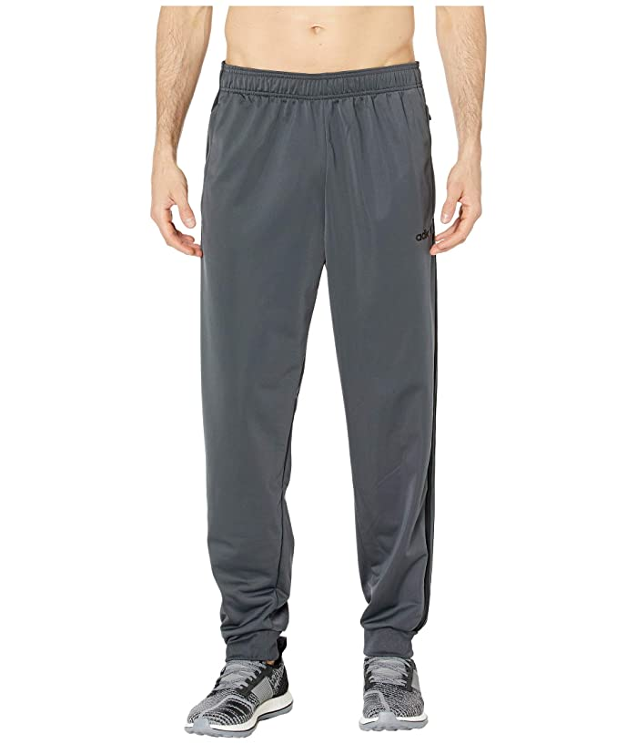 adidas Tricot Jogger Pants (Dark Grey Heather/Black) Men