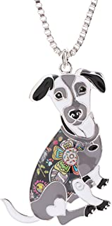 Marte&Joven Jack Russell Terrier Necklaces & Pendants for Women Cute Animal Pet Dog Jewelry Novelty Gifts