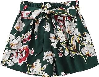 green flower shorts
