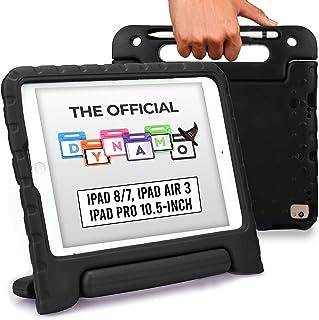 Cooper Cases DYNAMO 耐衝撃 ケース 【 iPad 10.2 第8世代 / 第7世代 / Air 10.5 2019 第3世代 / Pro 10.5 】 子供 軽量 EVA ハンドル ペンシル収納ホルダー付き (ブラック)