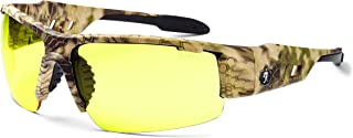 Ergodyne Skullerz Dagr Safety Glasses – Kryptek Highlander Brown Camo Frame, Yellow Lens