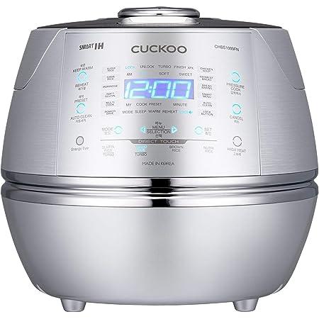 CUCKOO CRP-CHSS1009FN Cuiseur à riz à vapeur Rice Cooker 1,8 l 10 tasses | Technologie de chauffage à induction IH | Programmable | Riz GABA | Technologie DSP | Valve vapeur de sécurité