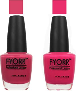 FYORR The Pink Way Nail Polish - Set of 2 (15 Ml Each)