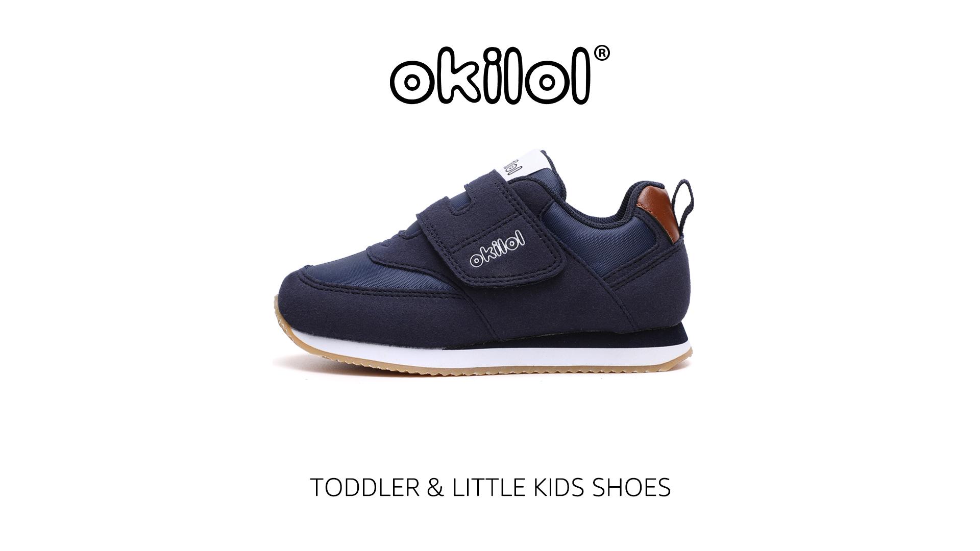 Boys /& Girls Comfort Retro Sneaker School okilol Toddler Shoes Kids Tennis Shoes for Comfort Walk Playground Fun