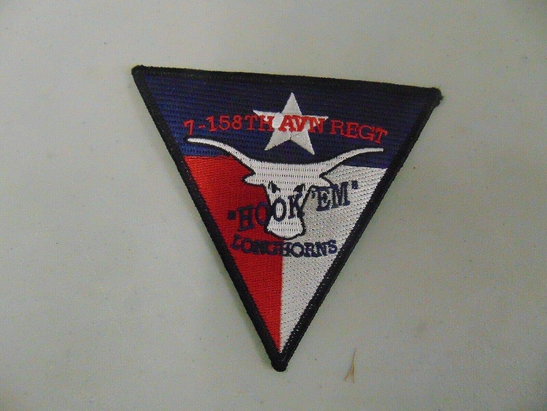 Patch Military 1-158TH Aviation Max Fresno Mall 49% OFF Regiment Hook Longhorns EM