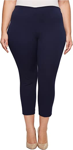 LAUREN Ralph Lauren Plus Size Stretch Twill Skinny Crop Pants